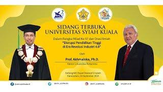 Live : Sidang Terbuka Universitas Syiah Kuala Dalam Rangka Milad Ke-57 dan Orasi Ilmiah