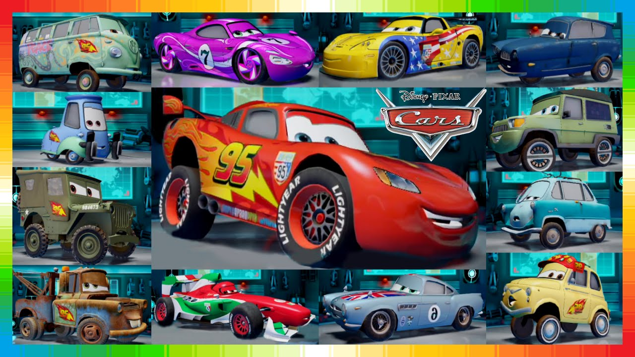 the cars movie characters names images galleries with a bite. Black Bedroom Furniture Sets. Home Design Ideas