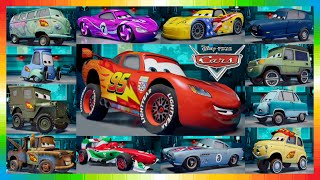 CARS 2 Movie Characters - All Cars from THE CARS MOVIE from Disney !!!