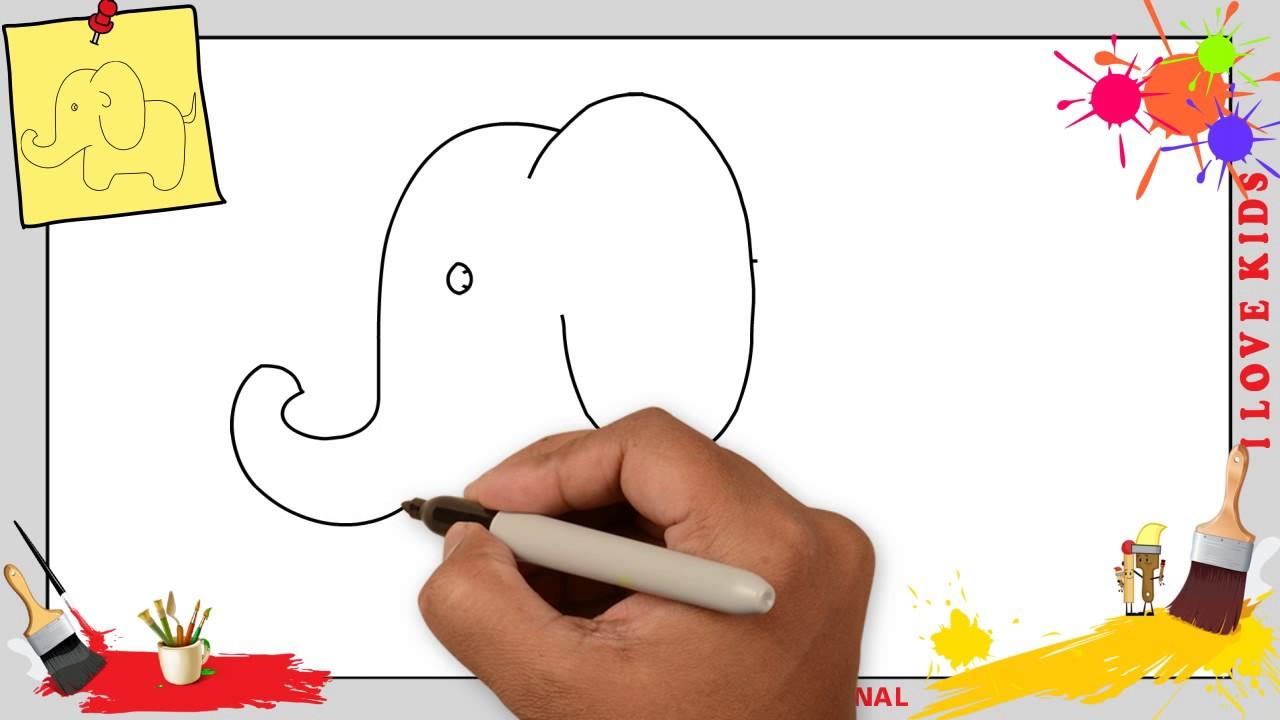 Elefant Zeichnen 3 Schritt Fur Schritt Fur Anfanger Kinder