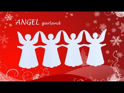 Angel garland - Fun DIY Christmas Holiday decoration with easy craft