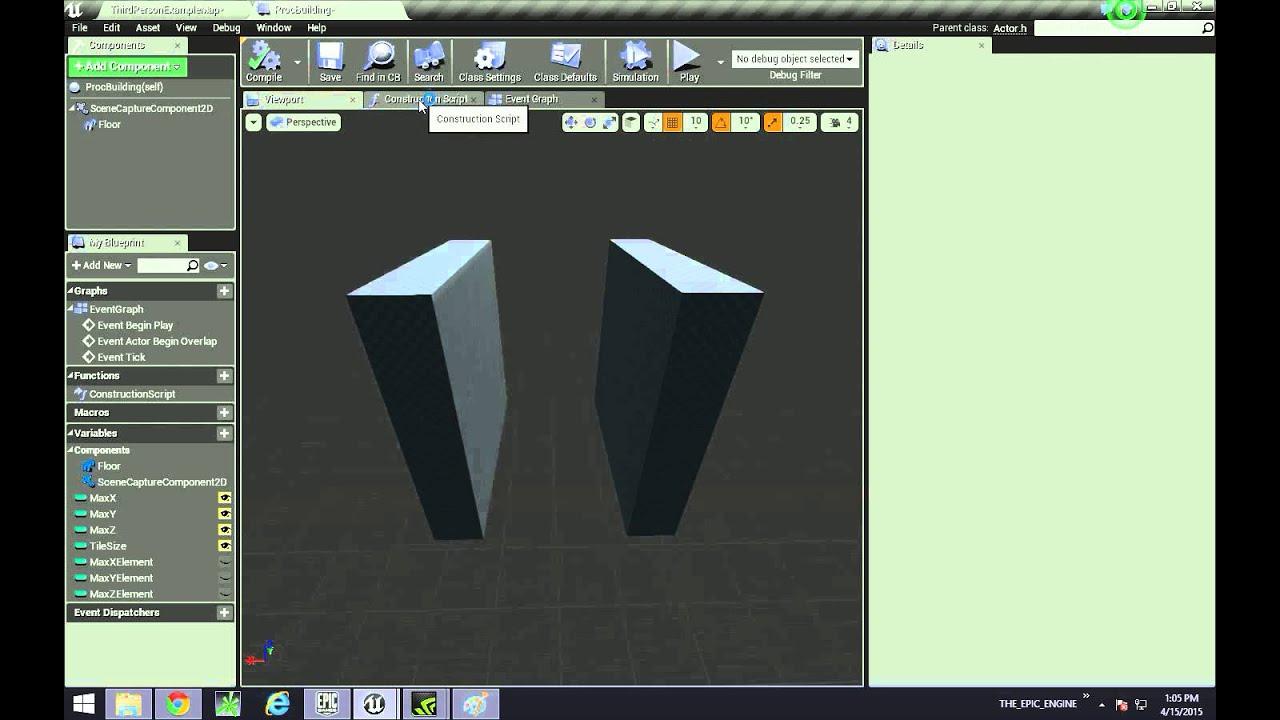 UE4- Procedural Building Hollow Out Cube