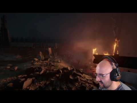 Streamer daughter walks in on him while playing a scary game.