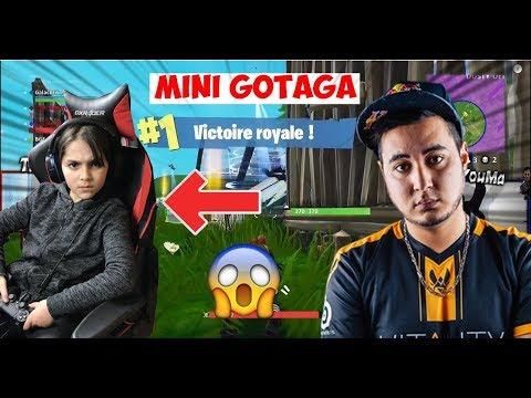 MINI GOTAGA FAIT TOP 1 SUR FORTNITE BATTLE ROYALE !