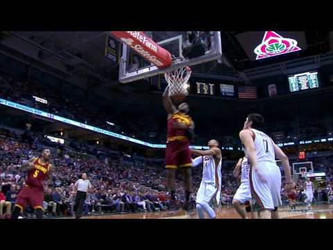J.R. Smith Serves Up the Big Alley-Oop to LeBron James
