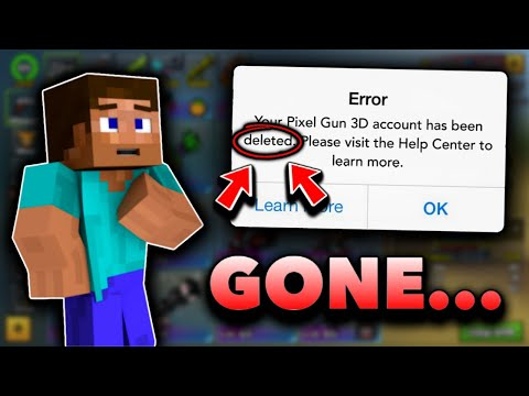 They DELETED My Pixel Gun 3D Account... 😭😡