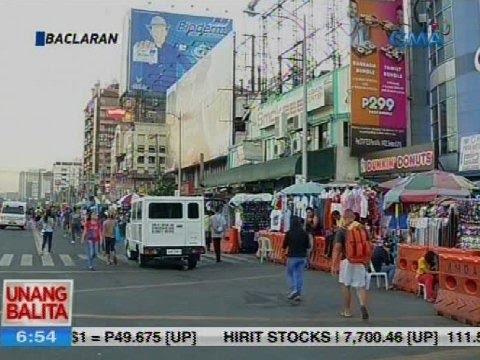 UB: Clean-up operation sa Baclaran, nagdulot ng pagluwag sa kalsada