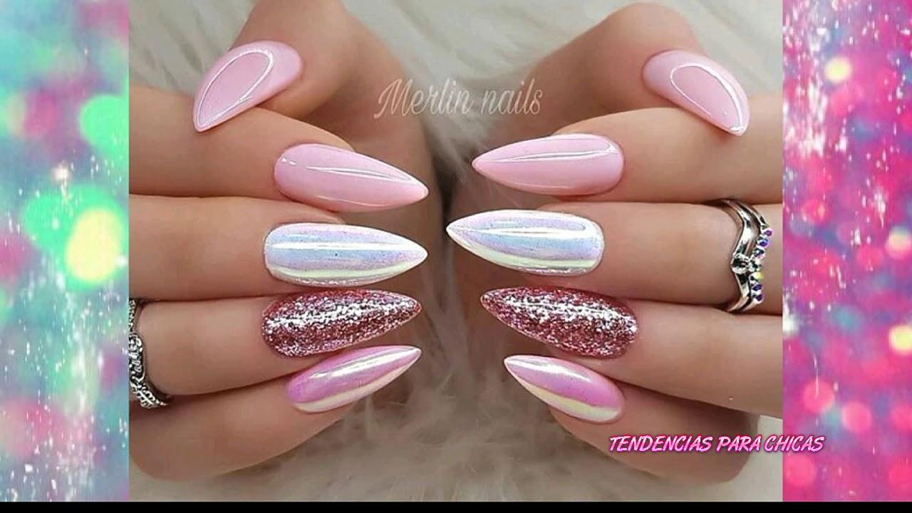 Estilo De Uñas Color Rosa Pastel Youtube