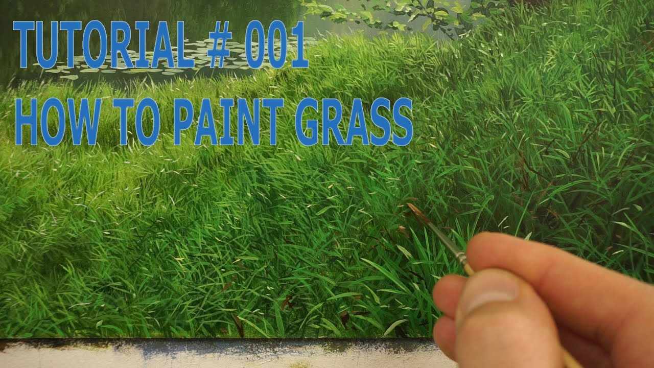 5 how to paint grass oil painting tutorial youtube