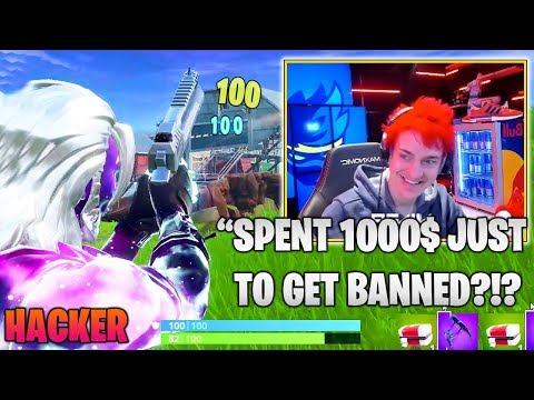 NINJA Lost His MIND After Spectating Aimbot Hacker With Galaxy Skin.. (Fortnite Moments)