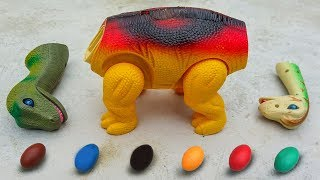 Dinosaur Walking and Laying Eggs Toys Learn Colors & Numbers for Children #2 - G238A thumbnail