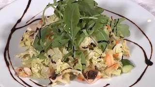 салат з пекінської капусти шампіньонів і меду