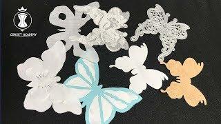 Бабочки для свадебного платья