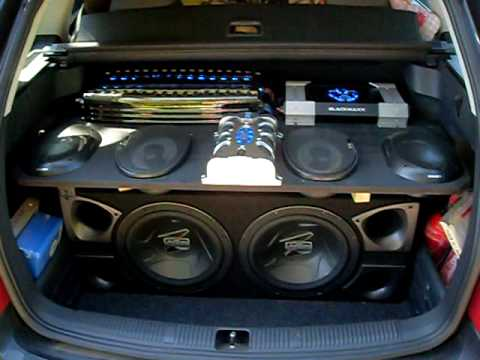 Autoanlage 1200 Watt Rms Youtube