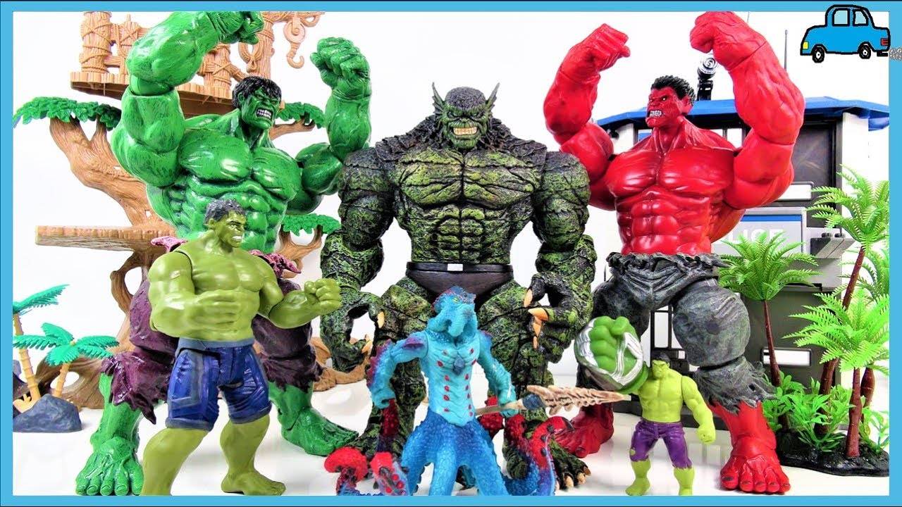 HULK, RED HULK SMASH~! Marvel Avengers HULK Collection ...