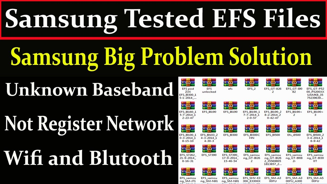 Samsung Tested EFS Files Repair Baseband,Not Register Network,Wifi and  Blutooth By AMS TECH