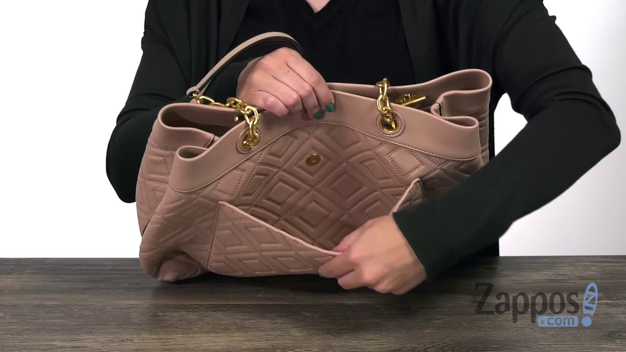 6d01ba85b1a74 Tory Burch Fleming Triple-Compartment Tote SKU  8976570 - YouTube