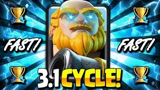 INSANE! 3.1 ELIXIR SUPER AGGRESSIVE ROYAL GIANT CYCLE DECK!!