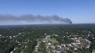 NORTH BRUNSWICK WAREHOUSE FIRE // DRONE FOOTAGE FROM EAST BRUNSWICK, NJ