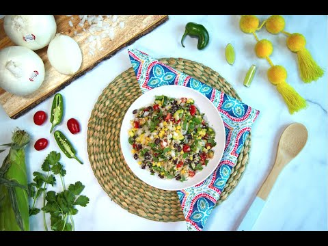 Quinoa & White Onion Fiesta Salad
