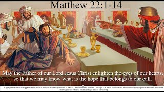 28th Sunday – OT – A - Gospel - Matthew 22:1–14 – May the Father of our