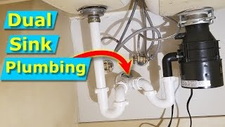 How to Install Dual Kitchen Sink Drain Plumbing Pipes