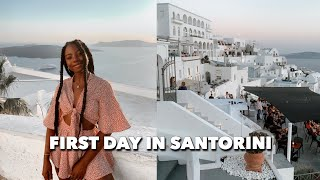 Gambar cover SANTORINI DAY 1: airbnb tour, exploring fira, getting my first souvenir + first sunset on the island