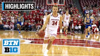 Highlights: Hot Second Half Leads Badgers to Win | McNeese at Wisconsin | Nov. 13, 2019