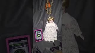 Spirit Doll ClaraBell, Communicates using Ghost Radar app. & EVP amazing!!! {{1 of 2 videos}}