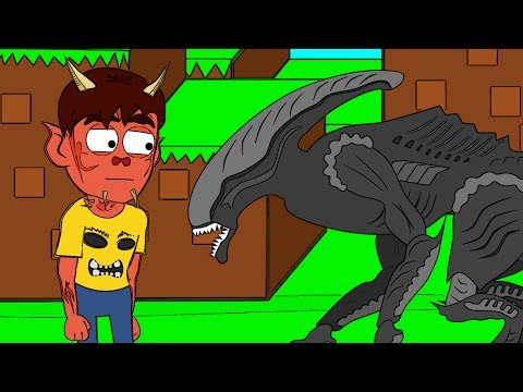 Обзор мода Minecraft Чужой Против Хищника! (Alien VS