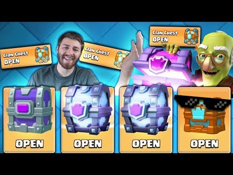 OPENING THE TROLL CHEST & SUPER MAGICALS! | Clash Royale | CLAN CHEST LEGENDARY HUNT! x3 CLAN CHESTS