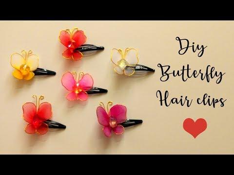 DIY Butterfly Kids Hair clips