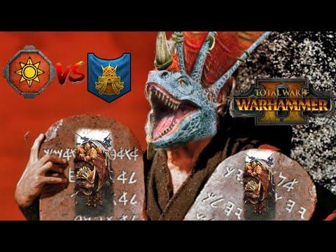 DOUBLE ARK OF SOTEK & LIZARD MOSES - Lizardmen vs Dwarfs | Total War Warhammer 2 |