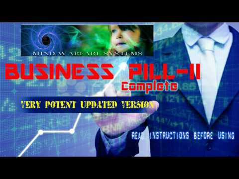 Business Pill Complete-II UPDATED(Very POTENT) -Subliminal-Theta-isocronic-Brainwaves -Pink Noise