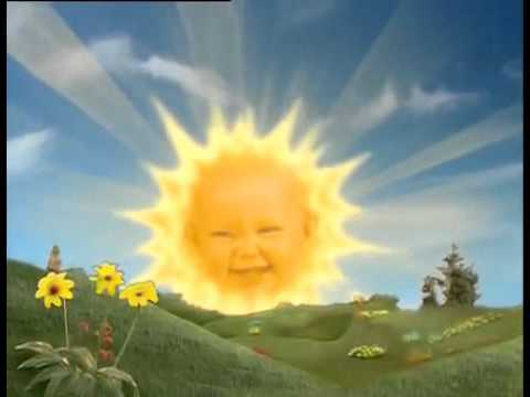 Image result for teletubby sun baby