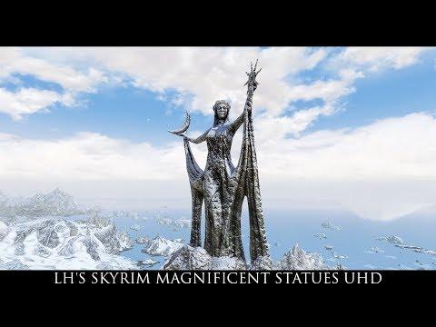 Skyrim SE Mods: LH's Skyrim Magnificent Statues UHD