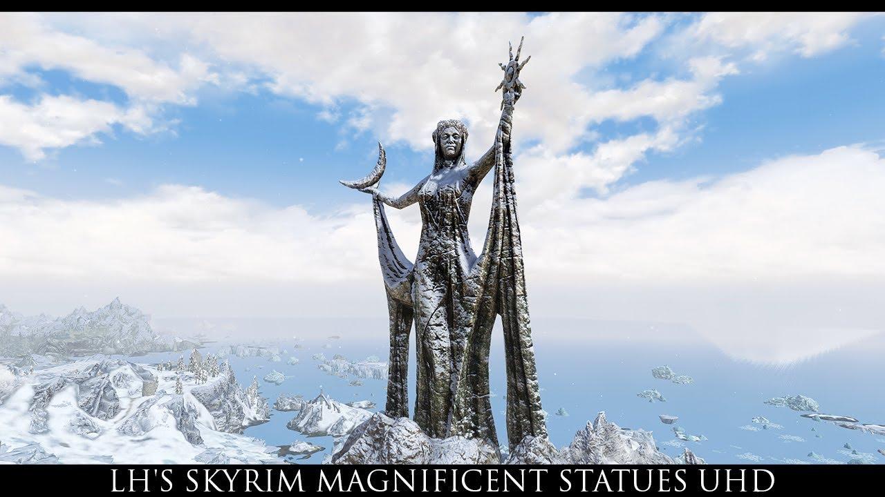 stunning statues of skyrim