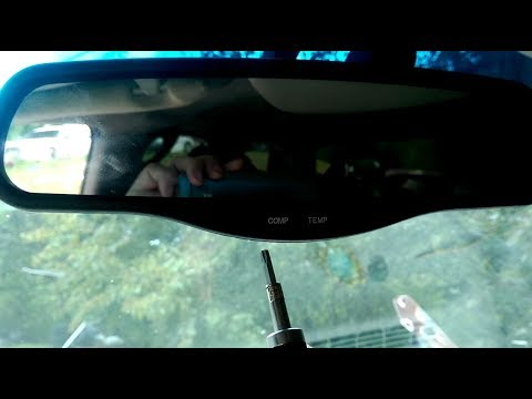 How To Remove The Rear View Mirror Gmc Yukon Denali Chevy Silverado