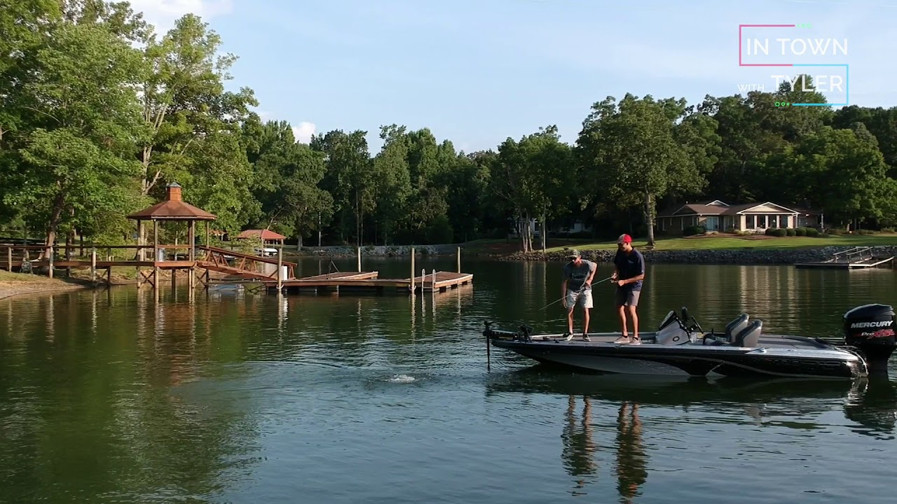 summer bass fishing in lake wylie youtube. Black Bedroom Furniture Sets. Home Design Ideas