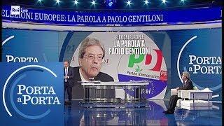 Alleanza 5Stelle-PD, il commento del presidente PD Paolo Gentiloni - Porta a Porta 20/05/2019
