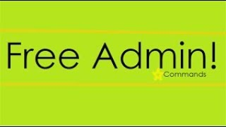 Free admin game!!!!! In roblox