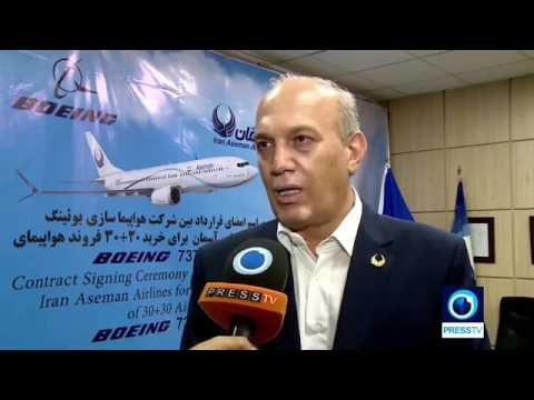 Iran Aseman airlines & Boeing strike deal to buy 60 aircraft