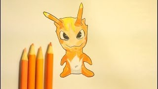 How To Draw Slugterra Burpy (Easy Step By Step)