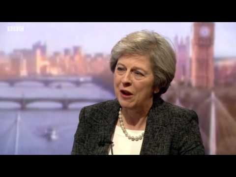 Theresa May talks to Andrew Marr on the Industrial Strategy
