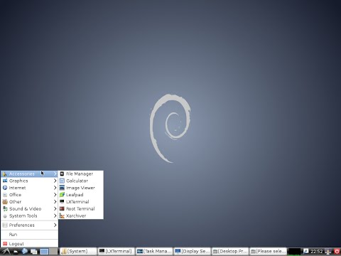 Installation of Linux Debian 7.6.0 LXDE 64bit. The Universal Operating System.