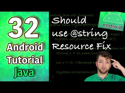 Android App Development Tutorial 32 - Should use @string Resource Fix | Java thumbnail