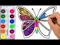 Drawing for Kids  Butterfly And Many  Picture Coloring Pages