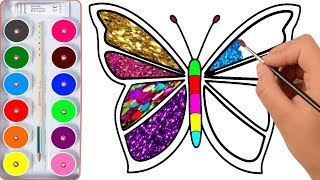 Drawing for Kids | Butterfly, And Many | Picture Coloring Pages thumbnail