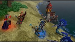 Warcraft 3 REFORGED (Hard) - Curse of the Blood Elves 02 - A Dark Covenant