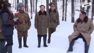 [Documentary] N.K. First Lady Ri Sol-ju seen with smartphone and sunglasses in front of Kim Jong-un